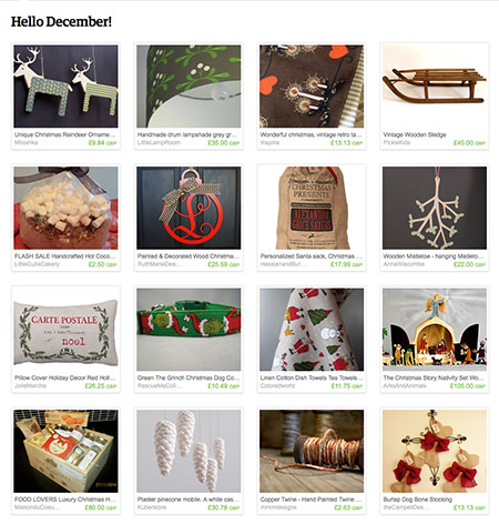 'Hello December!' Etsy List curated by H is for Home