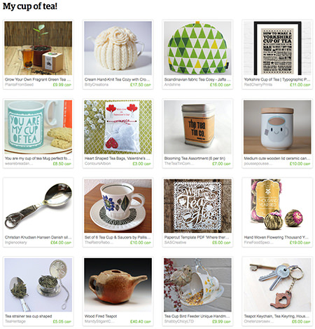 'My Cup of Tea!' Etsy List curated by H is for Home