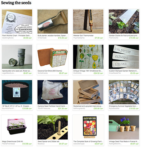 'Sewing the Seeds' Etsy List curated by H is for Home