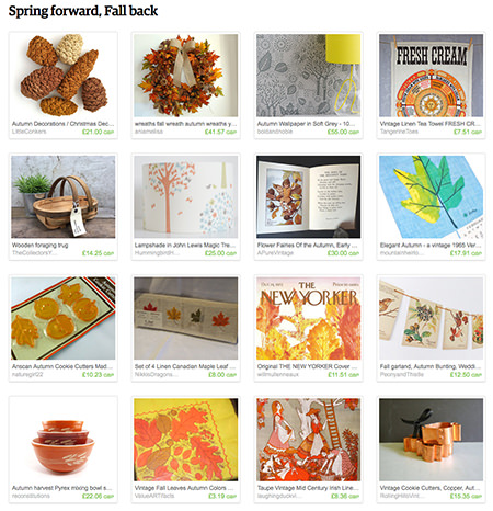 'Spring forward, Fall back' Etsy List curated by H is for Home