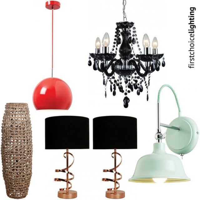 Selection of products available at First Choice Lighting for under £50 | H is for Home