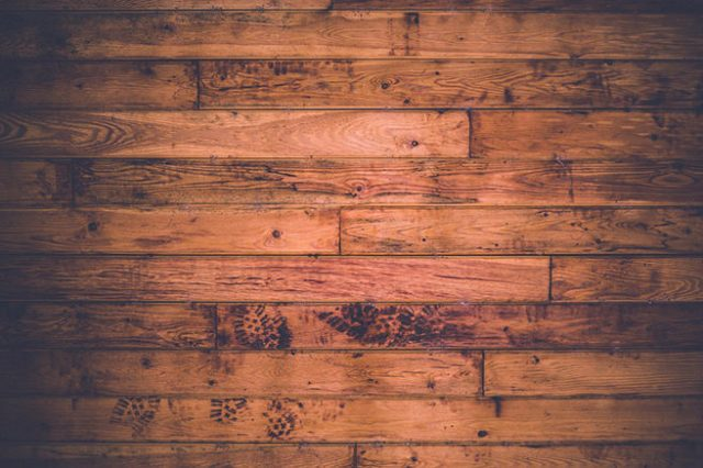Distressed floorboards