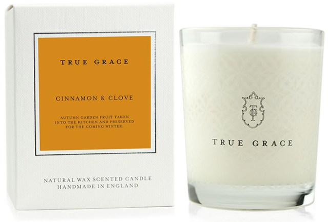 True Grace cinnamon & clove scented candle from House of Fraser