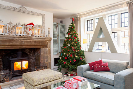 Norton Priory decorated for Christmas