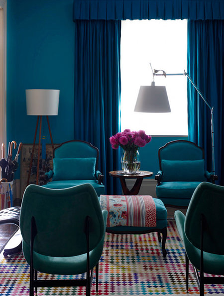 Petrol blue sitting room