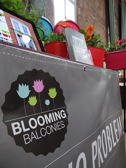 Blooming Balconies' banner