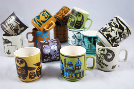 collection of vintage Hornsea Pottery mugs | H is for Home