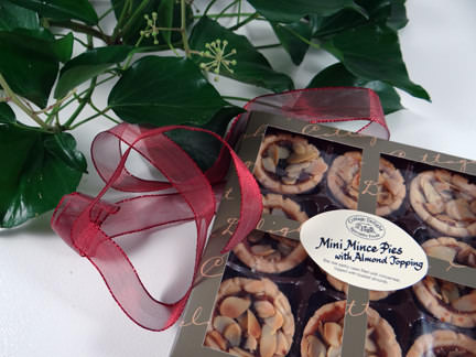 mini mince pies from a John Lewis Christmas hamper