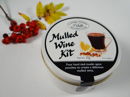 mulled wine kit from a John Lewis Christmas hamper