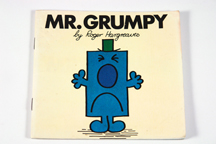 cover of vintage Mr Men book featuring Mr Grumpy | H is for Home