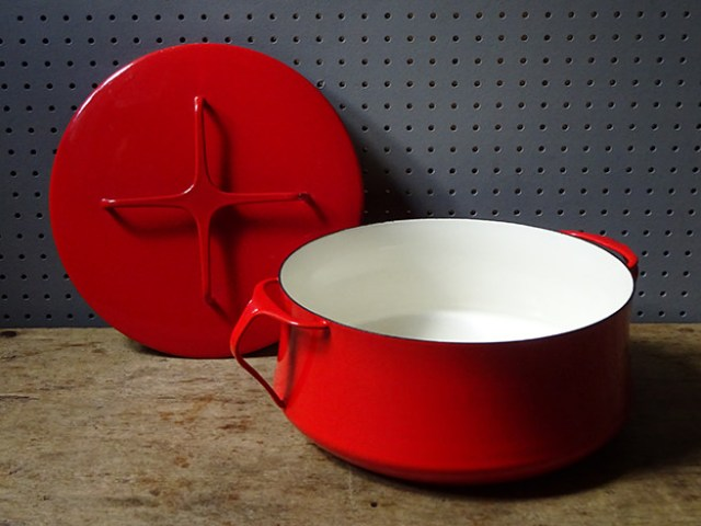 Red vintage Kobenstyle casserole dish with lid | H is for Home
