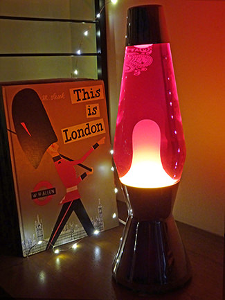 Warmed up Pretty Green x Mathmos lava lamp | H is for Home