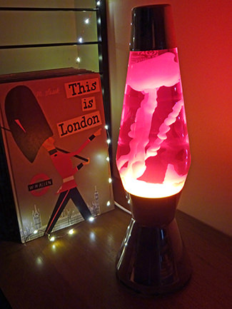 Recently switched on Pretty Green x Mathmos lava lamp | H is for Home