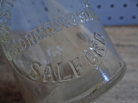 vintage milk bottle from Salford in Greater Manchester | H is for Home