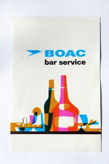 1960s BOAC drinks menu