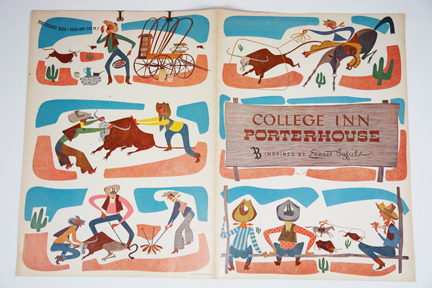 1950s Porterhouse steakhouse menu from our collection of vintage menus