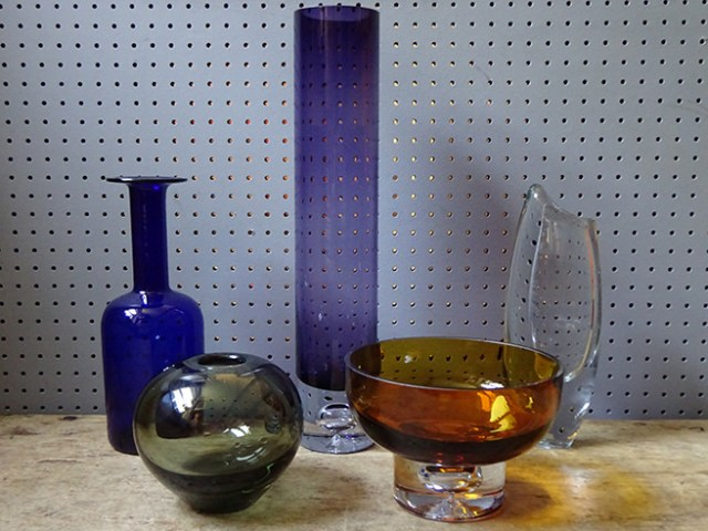 Collection of vintage art glass | H is for Home