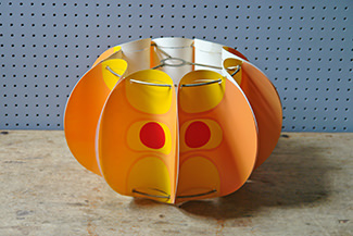 Orange plastic vintage pop art lampshade | H is for Home