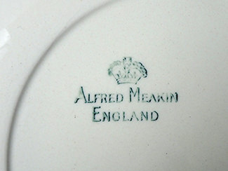 Back stamp from vintage Alfred Meakin Paris Café side plate | H is for Home