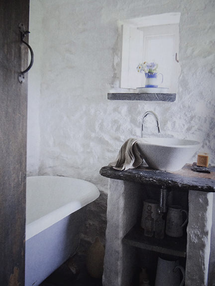 'Whitewashed bathroom in Country Living magazine June 2014