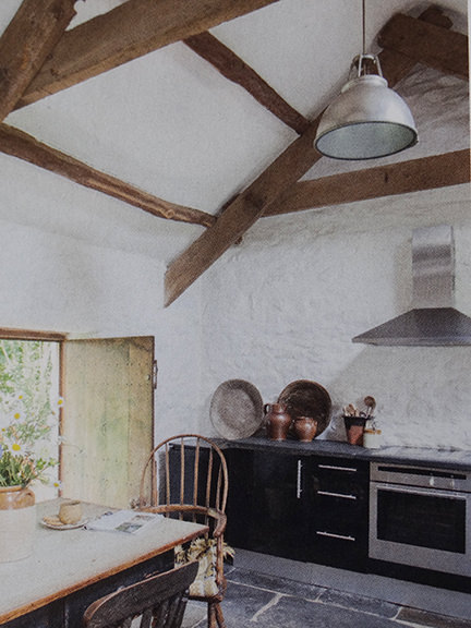 'Whitewashed kitchen in Country Living magazine June 2014