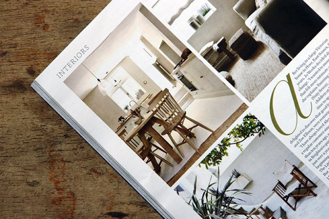 Three views of sitting areas from the 'Less is More' article in the May 2016 edition of Country Living magazine