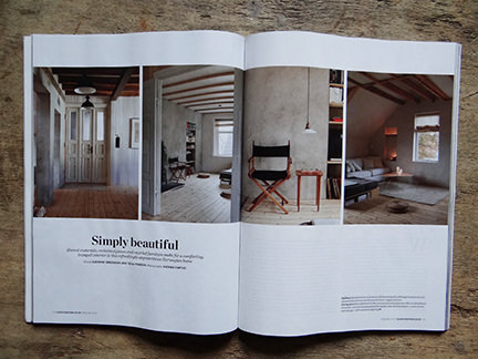 'Simply Beautiful' article from the February 2014 edition of Elle Decoration magazine