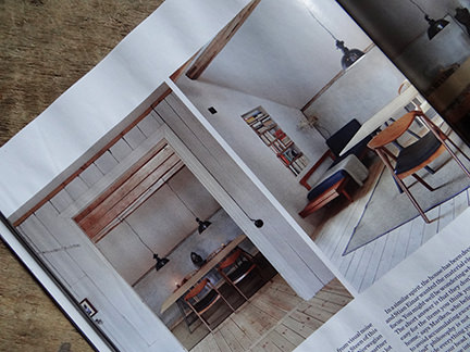 table and chairs in 'Simply Beautiful' article from the February 2014 edition of Elle Decoration magazine