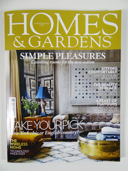 Homes & Gardens November 2013 magazine cover