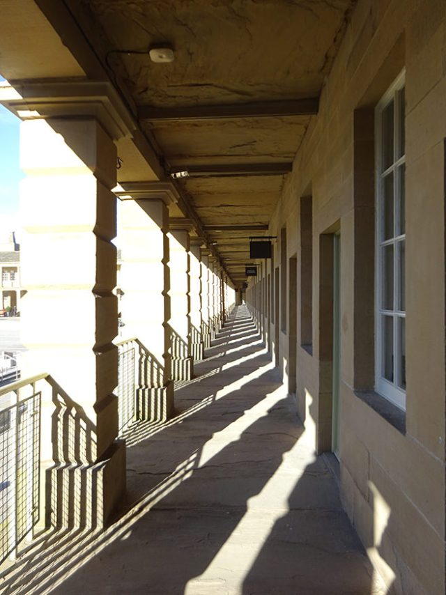 First floor colonnade, Piece Hall, Halifax | H is for Home