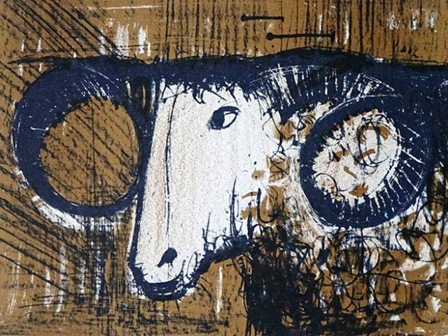 Vintage Bernard Buffet ram artwork | H is for Home