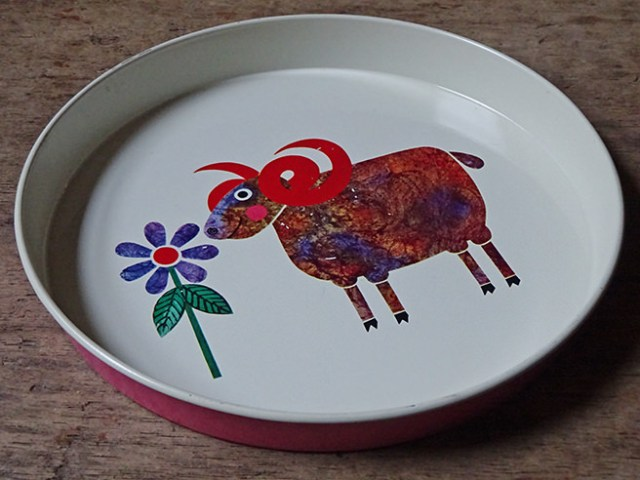 Vintage Rodney Peppé ram serving tray