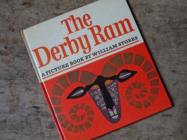 "Cover of a vintage ""The Derby Ram"" book by William Stobbs 