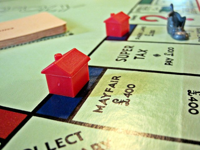Mayfair on a Monopoly board