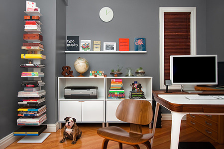 Nick Keppol's minimalist home office