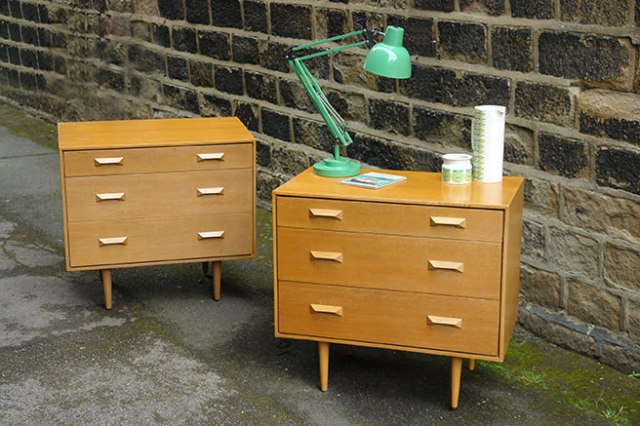 Pair of vintage Stag Furniture chest of drawers | H is for Home