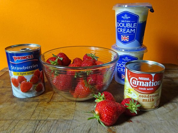Strawberry ice cream ingredients