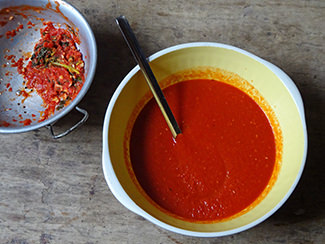 Sieved home-made tomato sauce | H is for Home