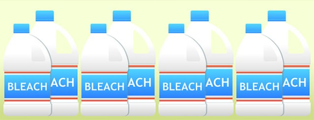 Bottles of bleach illustration