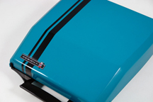 vintage 1970s electric blue portable Smith Corona designed by Ghia | H is for Home