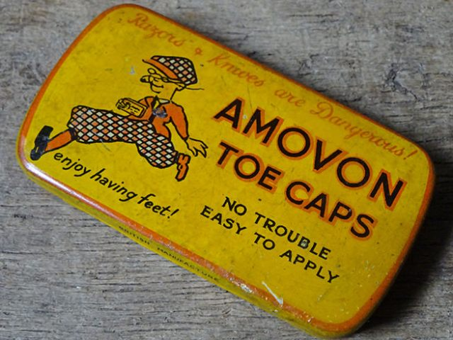 Vintage Amovon Toe Caps tin | H is for Home