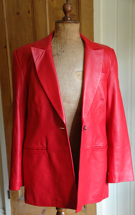 Red vintage Jaeger leather jacket