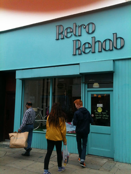Exterior view of Retro Rehab, Oldham Street, Manchester
