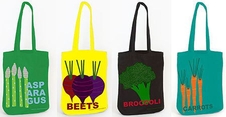 Viva Vegetables medium tote bags