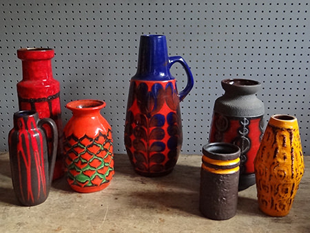 7 vintage West German vases | H is for Home