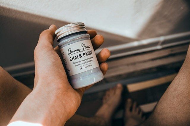Small jar of chalk paint