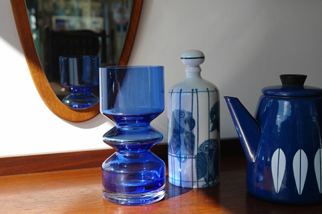 Trio of blue vintage objects for sale in our new shop space | H is for Home