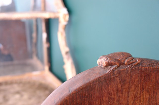 Detail from a Frogman piece in the new shop space next to ours | H is for Home