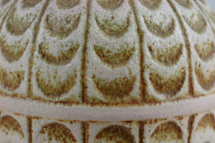 West German vase with impressed detailing