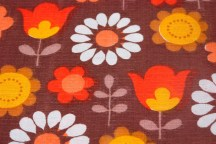 floral fabric detail